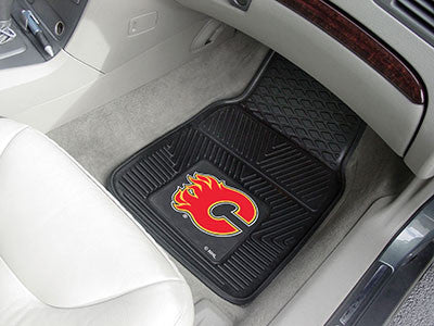 "NHL Officially licensed products Calgary Flames  2-pc Vinyl Car Mats 17""x27"" Add style to your ride with heavy duty Vinyl Ca"