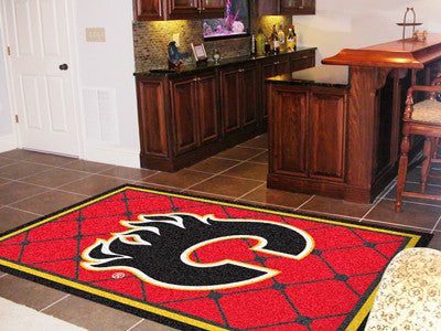 NHL Officially licensed products Calgary Flames 5'x8' Rug Show off your team pride in a big way! 5'x8' ultra plush area rugs