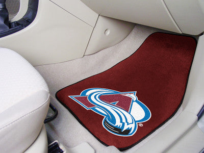"NHL Officially licensed products Colorado Avalanche 2-pc Printed Carpet Car Mats 17""x27"" Show your fandom even while driving"