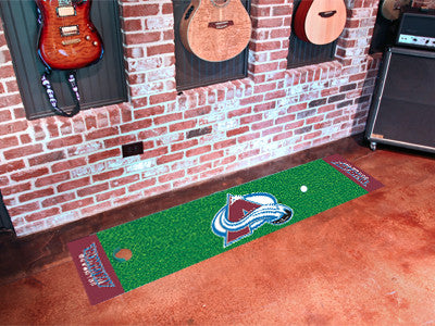 "NHL Officially licensed products Colorado Avalanche Putting Green Mat 18""x72"" Become a pro and perfect your short game with"