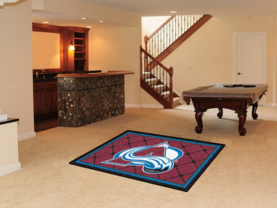 NHL Officially licensed products Colorado Avalanche 4'x6' Rug Show off your team pride in a big way! 4'x6' ultra plush area