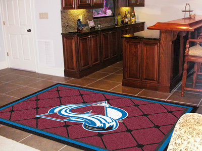 NHL Officially licensed products Colorado Avalanche 5'x8' Rug Show off your team pride in a big way! 5'x8' ultra plush area