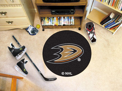 "NHL Officially licensed products Anaheim Ducks Puck Mat 27"" diameter  Protect your floor in style and show off your fandom w"