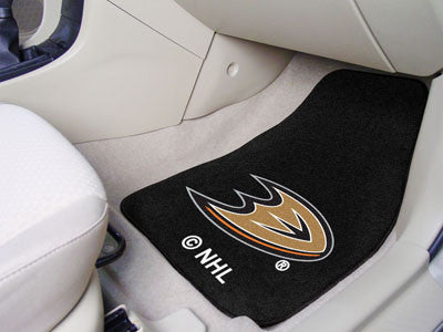 "NHL Officially licensed products Anaheim Ducks 2-pc Printed Carpet Car Mats 17""x27"" Show your fandom even while driving with"