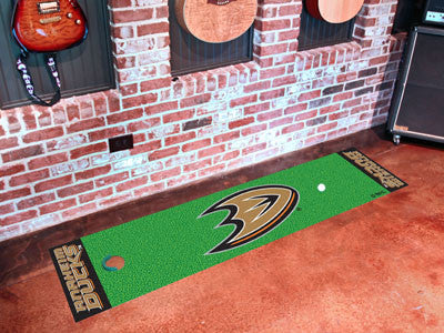 "NHL Officially licensed products Anaheim Ducks Putting Green Mat 18""x72"" Become a pro and perfect your short game with Golf"