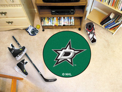 "NHL Officially licensed products Dallas Stars Puck Mat 27"" diameter  Protect your floor in style and show off your fandom wi"