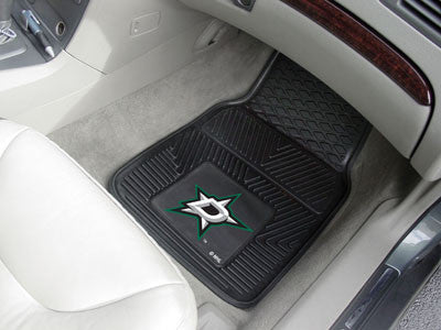 "NHL Officially licensed products Dallas Stars  2-pc Vinyl Car Mats 17""x27"" Add style to your ride with heavy duty Vinyl Car"