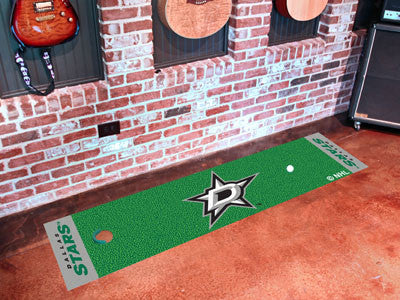 "NHL Officially licensed products Dallas Stars Putting Green Mat 18""x72"" Become a pro and perfect your short game with Golf P"