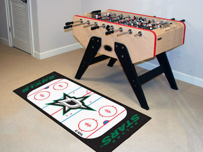 "NHL Officially licensed products Dallas Stars Rink Runner 30""x72"" The ice might be cool but these hockey Rink Runners are re"