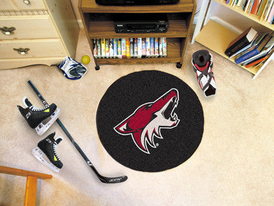 "NHL Officially licensed products Arizona Coyotes Puck Mat 27"" diameter  Protect your floor in style and show off your fandom"