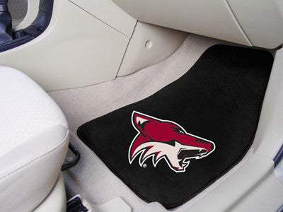 "NHL Officially licensed products Arizona Coyotes 2-pc Printed Carpet Car Mats 17""x27"" Show your fandom even while driving wi"