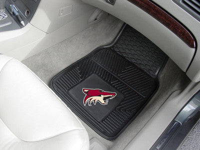 "NHL Officially licensed products Arizona Coyotes  2-pc Vinyl Car Mats 17""x27"" Add style to your ride with heavy duty Vinyl C"