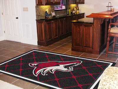 NHL Officially licensed products Arizona Coyotes 5'x8' Rug Show off your team pride in a big way! 5'x8' ultra plush area rug
