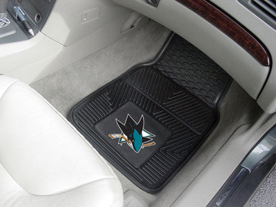 "NHL Officially licensed products San Jose Sharks  2-pc Vinyl Car Mats 17""x27"" Add style to your ride with heavy duty Vinyl C"