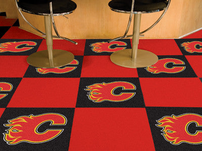 "NHL Officially licensed products Calgary Flames 18""x18"" Carpet Tiles Want to show off your team pride in a big way? Carpet T"