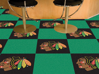 "NHL Officially licensed products Chicago Blackhawks 18""x18"" Carpet Tiles Want to show off your team pride in a big way? Carp"