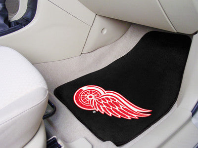 "NHL Officially licensed products Detroit Red Wings 2-pc Printed Carpet Car Mats 17""x27"" Show your fandom even while driving"
