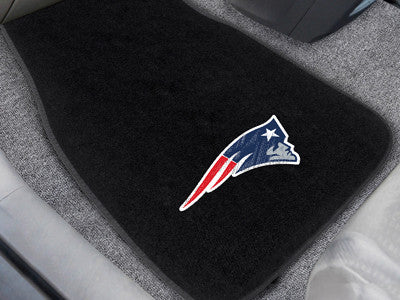 "NFL Officially licensed products New England Patriots 2-pc Embroidered Car Mats 18""x27"" Protect the interior of your vehicle"