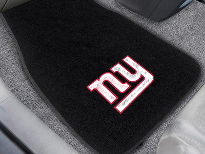 "NFL Officially licensed products New York Giants 2-pc Embroidered Car Mats 18""x27"" Protect the interior of your vehicle whil"