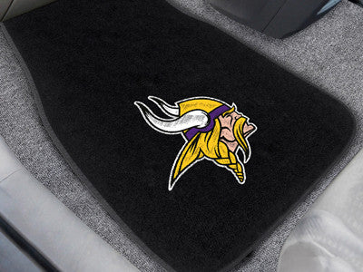 "NFL Officially licensed products Minnesota Vikings 2-pc Embroidered Car Mats 18""x27"" Protect the interior of your vehicle wh"