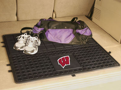 "NCAA Officially licensed University of Wisconsin Heavy Duty Vinyl Cargo Mat 31""x31"" Protect your cargo with heavy duty Cargo"