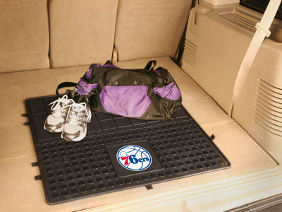 "NBA Officially licensed products Philadelphia 76ers Vinyl Cargo Mat 31""x31"" Protect your cargo with heavy duty Cargo Mats fr"