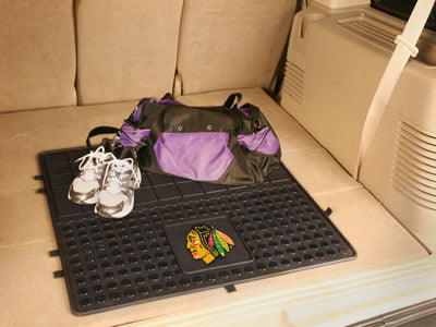 "NHL Officially licensed products Chicago Blackhawks Vinyl Cargo Mat 31""x31"" Protect your cargo with heavy duty Cargo Mats fr"