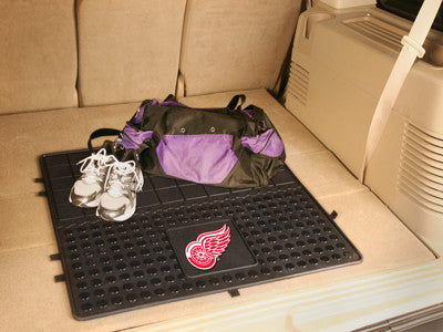 "NHL Officially licensed products Detroit Red Wings Vinyl Cargo Mat 31""x31"" Protect your cargo with heavy duty Cargo Mats fro"