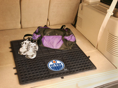 "NHL Officially licensed products Edmonton Oilers Vinyl Cargo Mat 31""x31"" Protect your cargo with heavy duty Cargo Mats from"