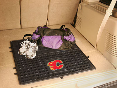 "NHL Officially licensed products Calgary Flames Vinyl Cargo Mat 31""x31"" Protect your cargo with heavy duty Cargo Mats from S"