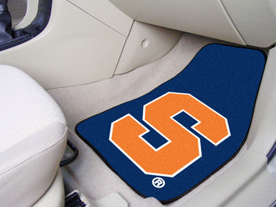 "NCAA Officially licensed Syracuse University 2-pc Carpet Car Mat Set 17""x27"" Show your fandom even while driving with Carpet"