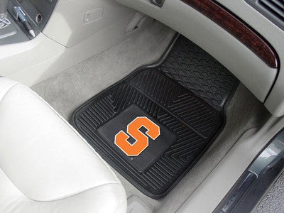 "NCAA Officially licensed Syracuse University 2-pc Vinyl Car Mat Set 17""x27"" Add style to your ride with heavy duty Vinyl Car"