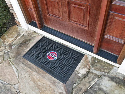 "NBA Officially licensed products Detroit Pistons Door Mat 19.5""x31.25"" Make a great first impression when guests come over w"