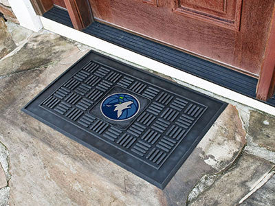 "NBA Officially licensed products Minnesota Timberwolves Door Mat 19.5""x31.25"" Make a great first impression when guests come"