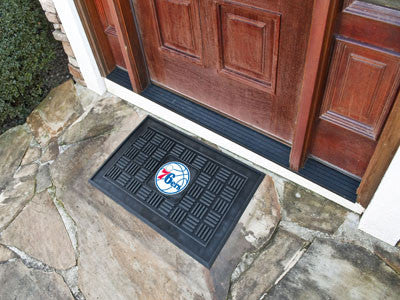 "NBA Officially licensed products Philadelphia 76ers Door Mat 19.5""x31.25"" Make a great first impression when guests come ove"