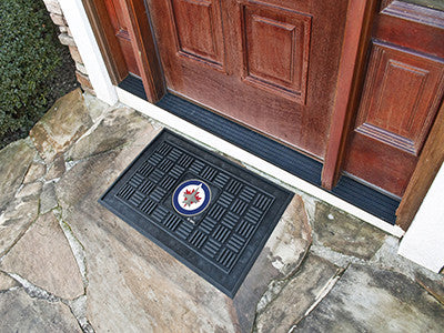 "NHL Officially licensed products Winnipeg Jets Door Mat 19.5""x31.25"" Make a great first impression when guests come over wit"