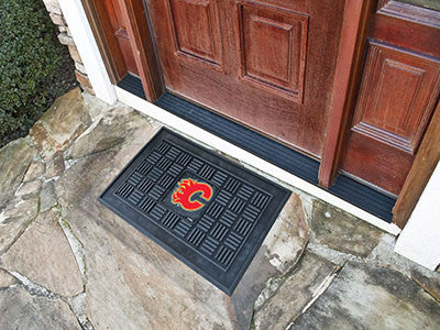 "NHL Officially licensed products Calgary Flames Door Mat 19.5""x31.25"" Make a great first impression when guests come over wi"