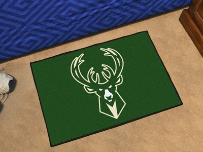 "NBA Officially licensed products Milwaukee Bucks Starter Rug 19"" x 30"" Start showing off your team pride at home and the off"