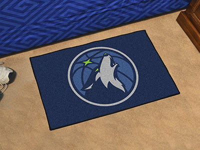 "NBA Officially licensed products Minnesota Timberwolves Starter Rug 19"" x 30"" Start showing off your team pride at home and"