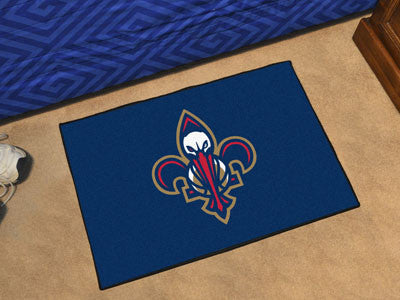 "NBA Officially licensed products New Orleans Pelicans Starter Rug 19"" x 30"" Start showing off your team pride at home and th"