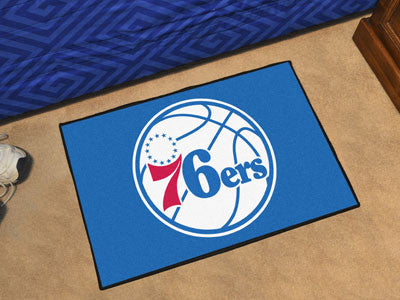 "NBA Officially licensed products Philadelphia 76ers Starter Rug 19"" x 30"" Start showing off your team pride at home and the"