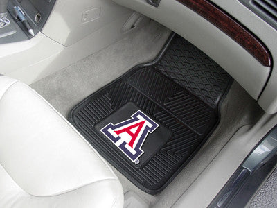 "NCAA Officially licensed University of Arizona 2-pc Vinyl Car Mat Set 17""x27"" Add style to your ride with heavy duty Vinyl C"