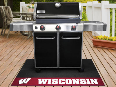 "NCAA Officially licensed University of Wisconsin Grill Mat 26""x42"" Are you a die-hard sports fan that likes to show off your"