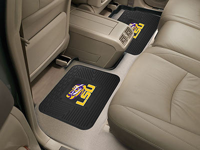 "NCAA Officially licensed Louisiana State University 2 Utility Mats 14""x17"" Boast your team colors with backseat Utility Mats"