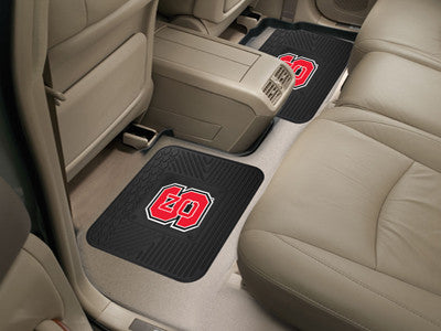 "NCAA Officially licensed North Carolina State University 2 Utility Mats 14""x17"" Boast your team colors with backseat Utility"