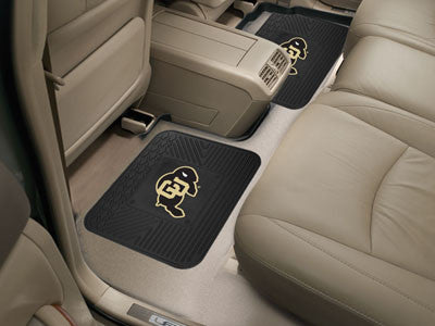 "NCAA Officially licensed University of Colorado 2 Utility Mats 14""x17"" Boast your team colors with backseat Utility Mats by"