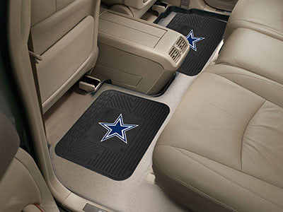 "NFL Officially licensed products Dallas Cowboys 2-pc Utility Mat 14""x17"" Boast your team colors with backseat Utility Mats b"