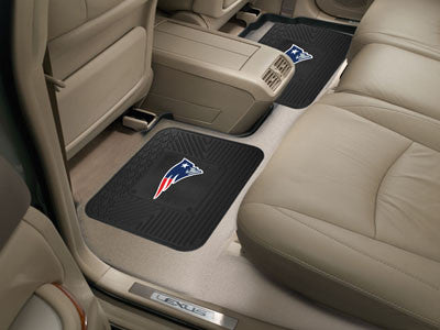 "NFL Officially licensed products New England Patriots 2-pc Utility Mat 14""x17"" Boast your team colors with backseat Utility"