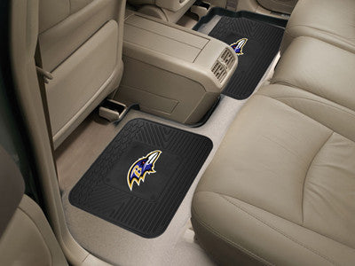 "NFL Officially licensed products Baltimore Ravens 2-pc Utility Mat 14""x17"" Boast your team colors with backseat Utility Mats"