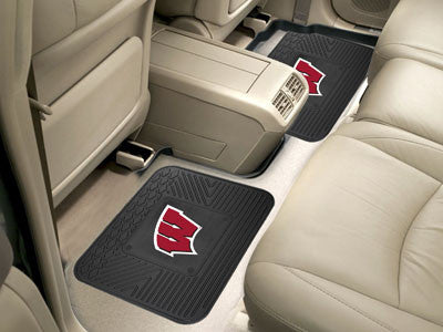 "NCAA Officially licensed University of Wisconsin 2 Utility Mats 14""x17"" Boast your team colors with backseat Utility Mats by"